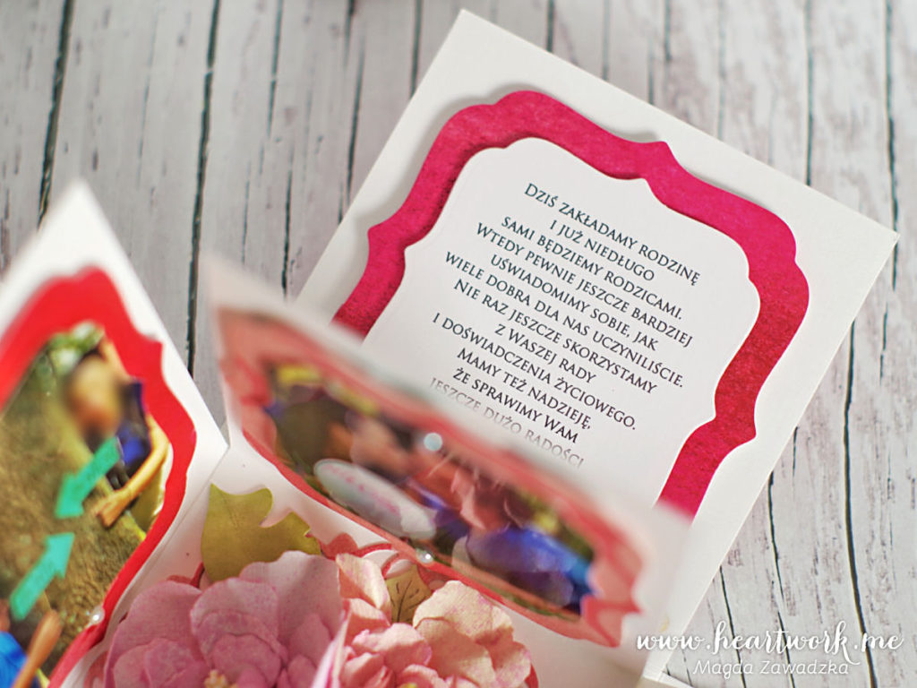 Oryginalne podziękowania dla rodziców od pary młodej. Exploding box ze zdjęciami pary młodej