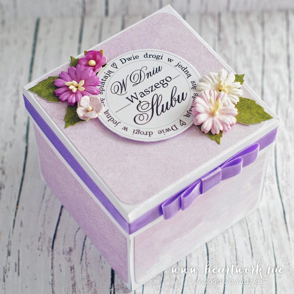 Pudełka są wygodnym sposobem na wręczenie gotówki jako prezent ślubny
