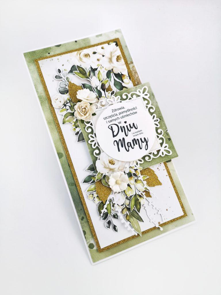 Kartka scrapbooking dla mamy. Rękodzieło na Dzień Matki.