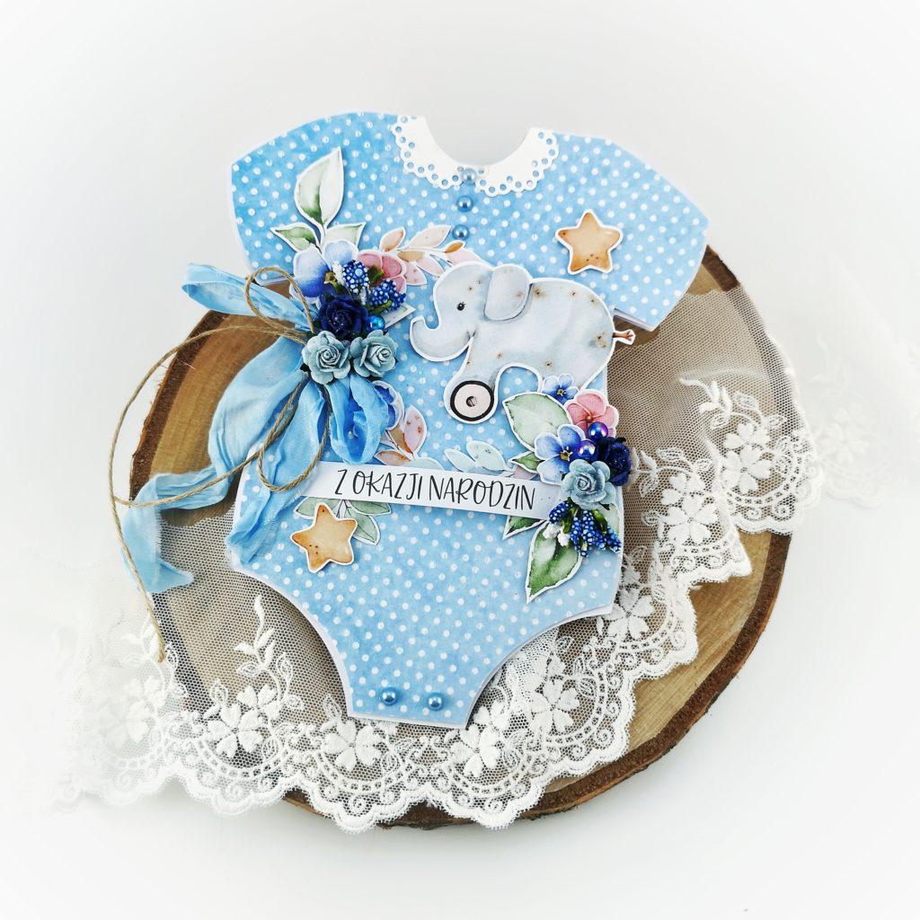 Oryginalna kartka z gratulacjami z okazji narodzin dziecka. Kartka dla noworodka.