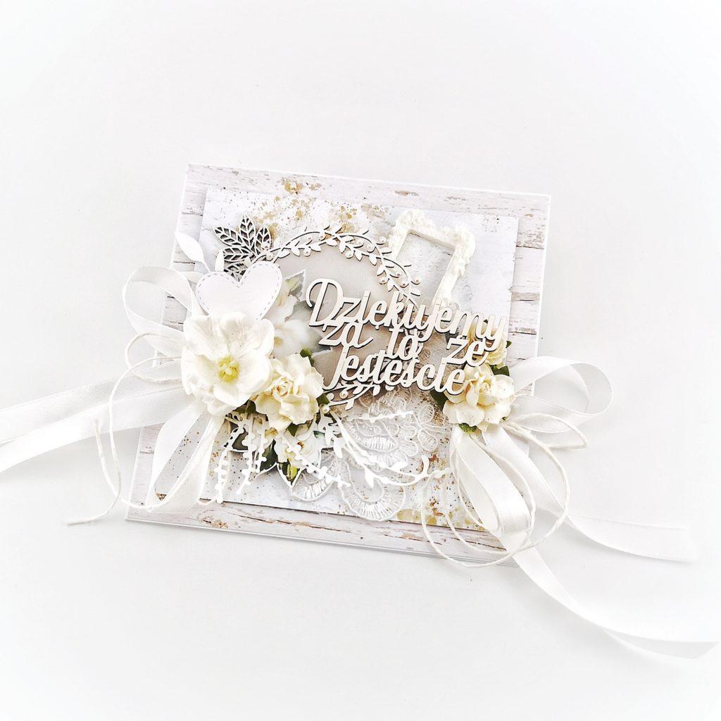 Kartka z podziękowaniami dla rodziców pary młodej. Prezent dla rodziców. Oryginalne podziękowanie dla rodziców nowożeńców.