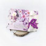 Fioletowy album ciążowy. Ręcznie robiony album na zdjęcia USG.