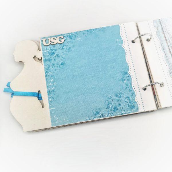 Album ciążowy z miejscem na wklejenie zdjęćz USG.