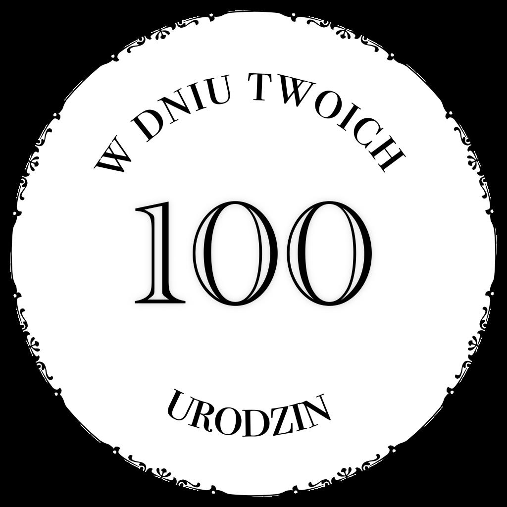 Digi stempel na 100 urodziny. Darmowe urodzinowe digi stemple do pobrania na heartwork.pl. Etykietki do kartek, exploding boxów, albumów, prezentów.